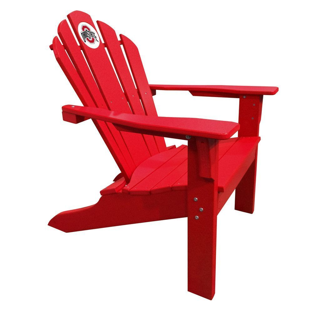 Ohio State Buckeyes Big Daddy Red Composite Adirondack Deck Chair