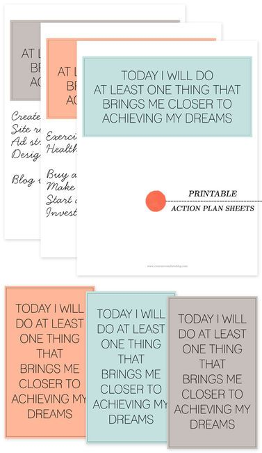 Action plan Good to know Pinterest Free printables, Planners