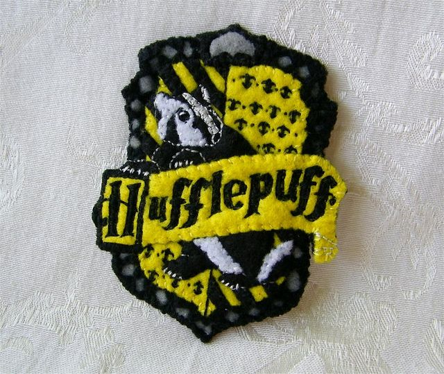 Harry Potter Hufflepuff Shield Hand Embroidered Felt Ornament by Autumn2May, via Flickr