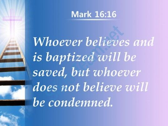 0514 mark 1616 whoever believes and baptized powerpoint church sermon Slide03  http://www.slideteam.net/