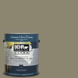 Behr Ultra 1 Gal Ppu8 21 Mossy Bank Extra Durable Satin Enamel Interior Paint Primer 775301 The Home Depot Interior Paint Behr Ultra Durable Paint