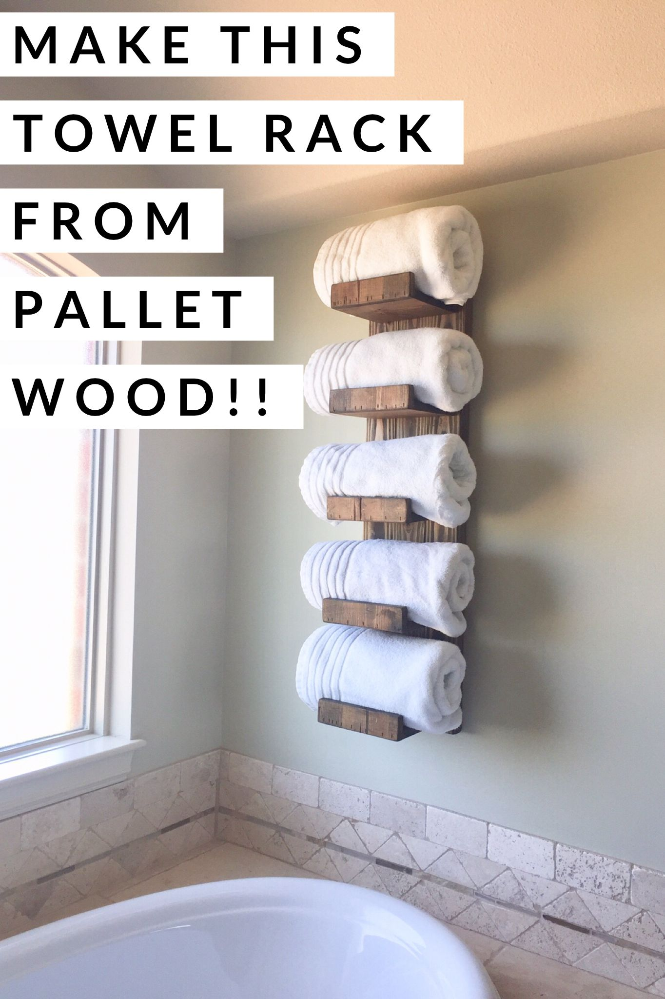You Can Make This Rustic Towel Rack For A Few Dollars By Using