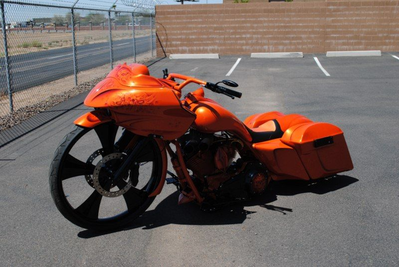 Sinister Industries Orange Bagger Bagger Harley Bagger Bagger Motorcycle