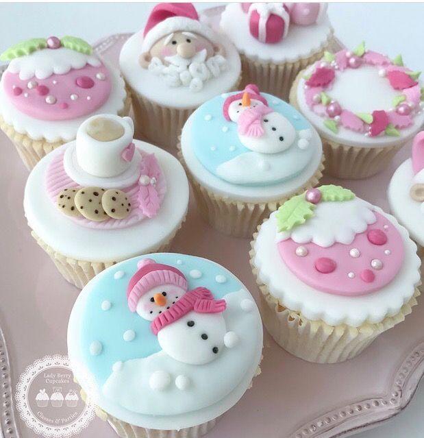 Too cute :) | Christmas cupcake toppers, Christmas cupcakes, Christmas cake