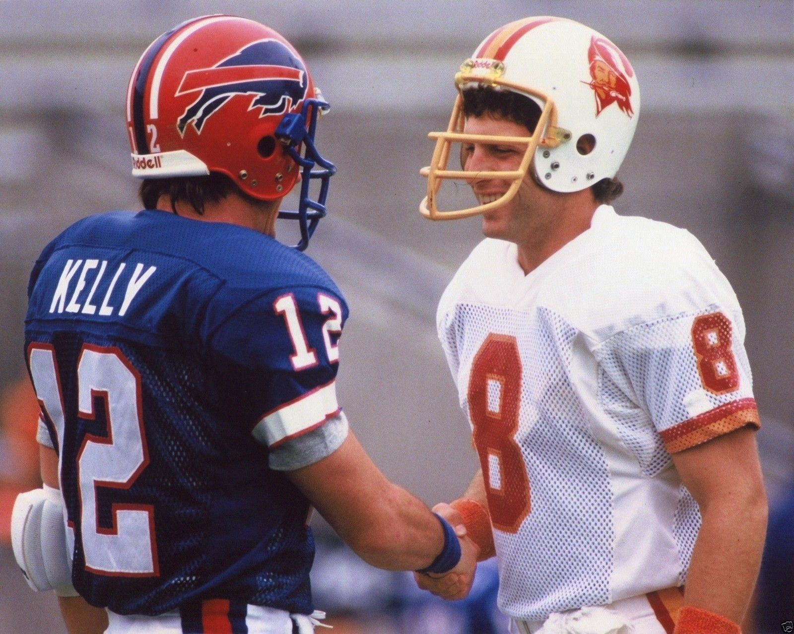 Steve Young Tampa Bay Buccaneers Jim Kelly Buffalo Bills 8x10 Sports Photo Xl Nfl Football Players Canadian Football League Carolina Panthers Football