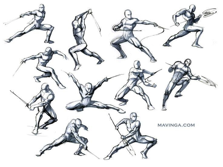 Dynamic Poses Reference Art In 2019 Fighting Poses Sword Poses