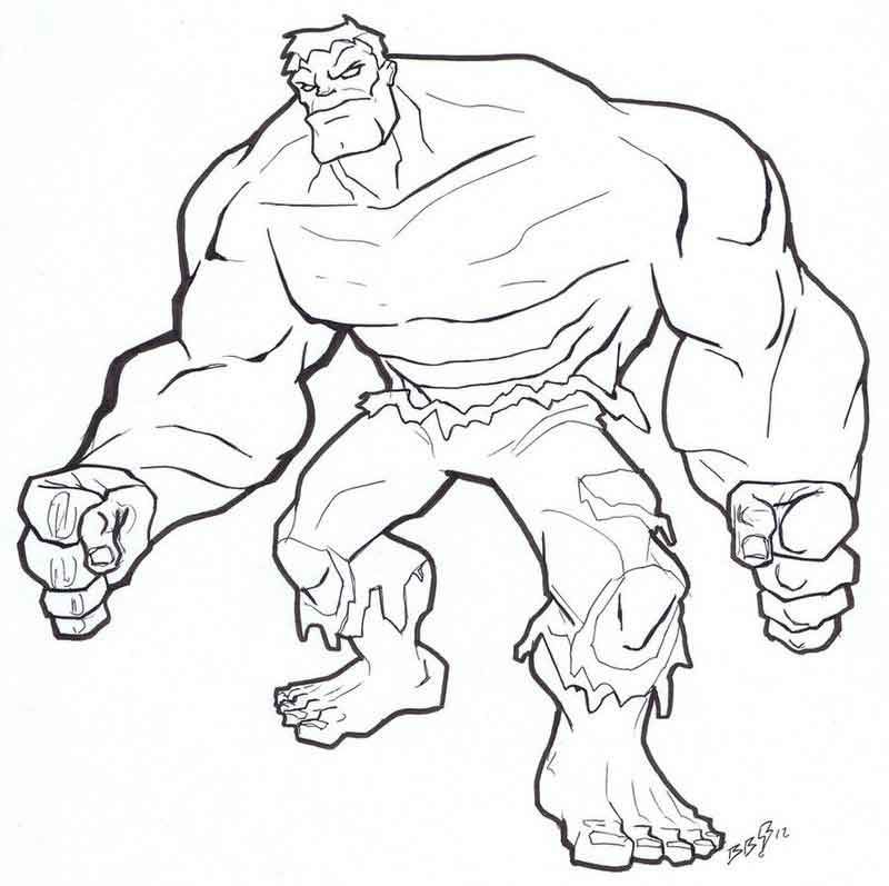 Hulk Coloring Pages Online