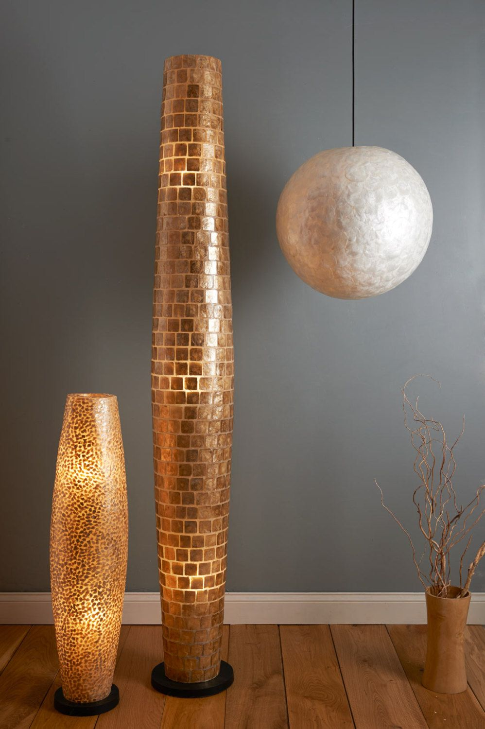 Superior Modern Square Pattern Gold Capiz Floor Lamp By Collectiviste On Etsy
