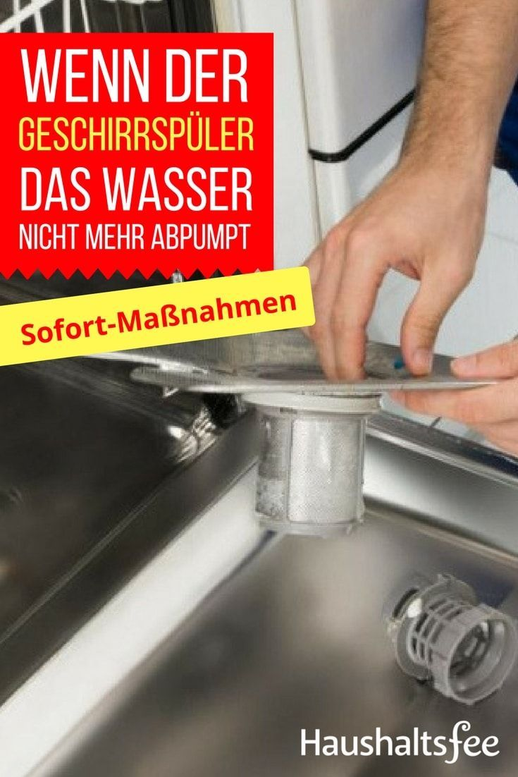 Wasser steht in der Spülmaschine, was ist zu tun E mailing