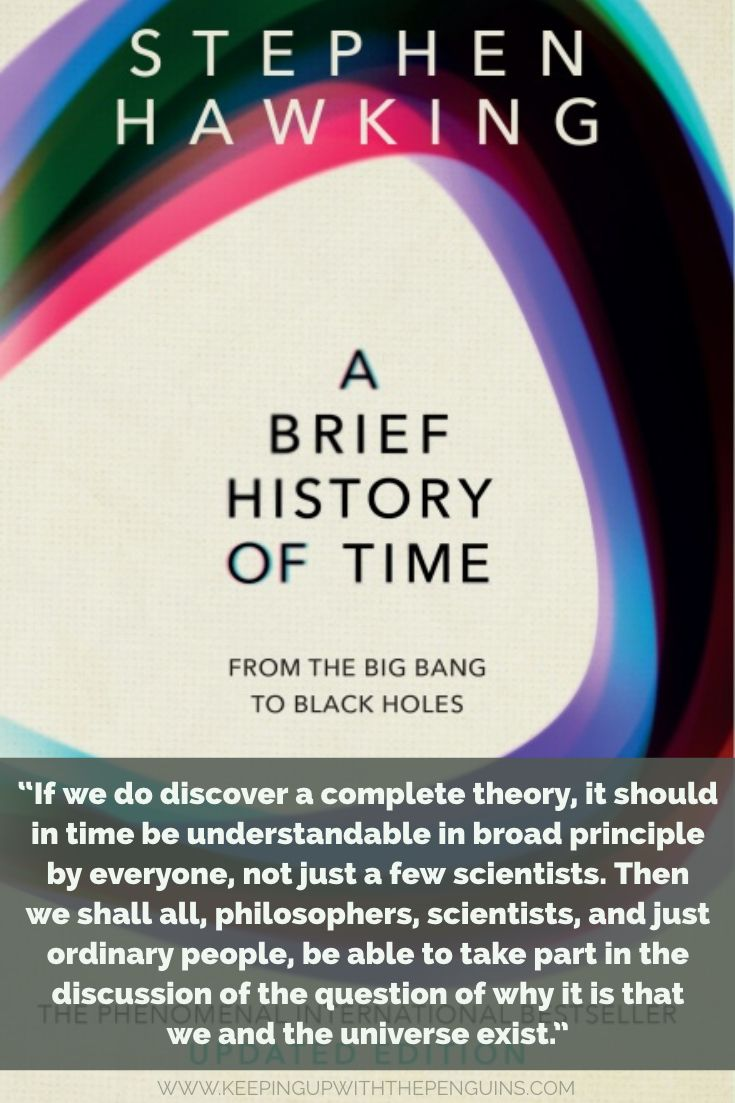 Book Review: A Brief History of Time - Stephen Hawking #sciencehistory