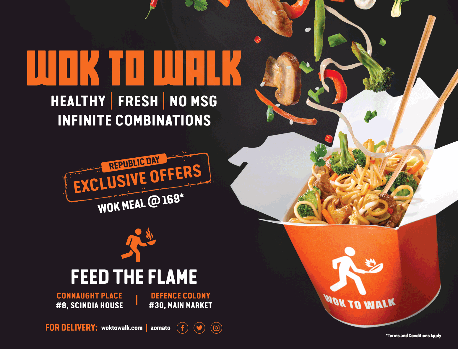 Wok To Walk Republic Day Exclusive Offers Wok Meal At 169 Ad Delhi Times Check Out More Hotels Restaurants Advertisement Advert Wok China Wok Republic Day