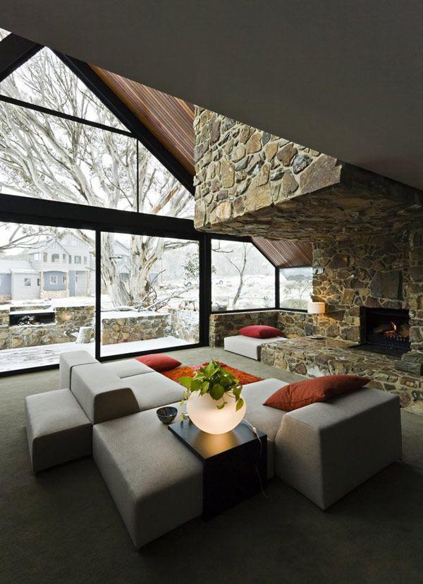 70 Moderne, Innovative Luxus Interieur Ideen Fürs Wohnzimmer   Winter Design  Modern Steinwand Idee