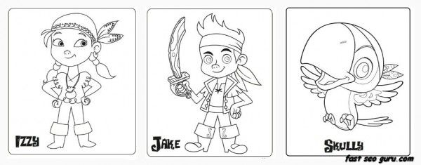 Printable Jake And The Neverland Pirates coloring pages for kid ...
