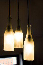 lampe aus sektflaschen anleitung zum nachbauen deko pinterest lampen anleitungen und. Black Bedroom Furniture Sets. Home Design Ideas
