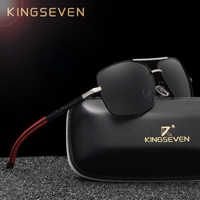 a20be8d51a KINGSEVEN Brand Designer Men s Aluminum Magnesium Sun Glasses Polarized  Mirror lens Male Eyewear Sunglasses For Men gafas. Yesterday s price  US   27.99 ...