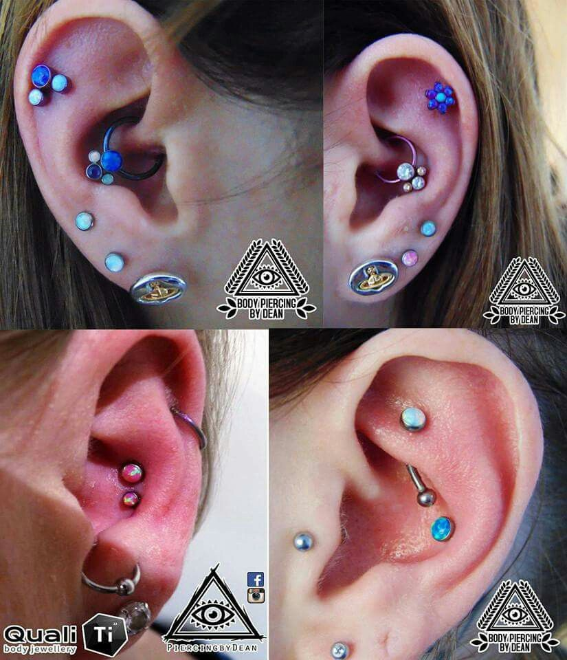 Daith, Helix, Conch, Rook, Lobes all with Anatometal / implant Grade Titanium