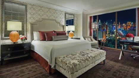 Pin On Hotel Rooms Bedroom suites las vegas strip