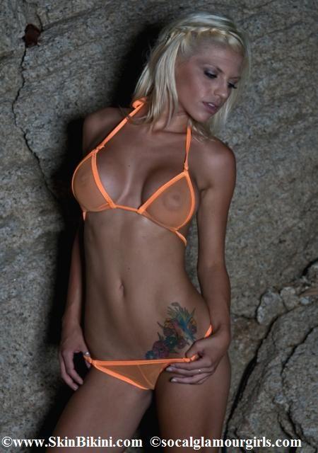 see thru mini bikini
