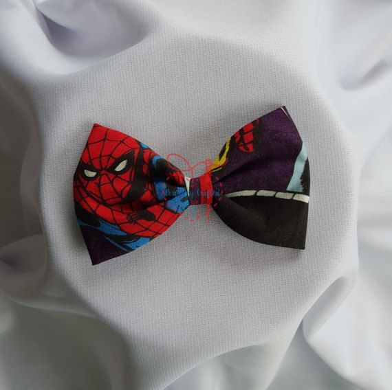 Superhero Bowtie, Hairclip, Hairband by PerfectlyCraftedByT