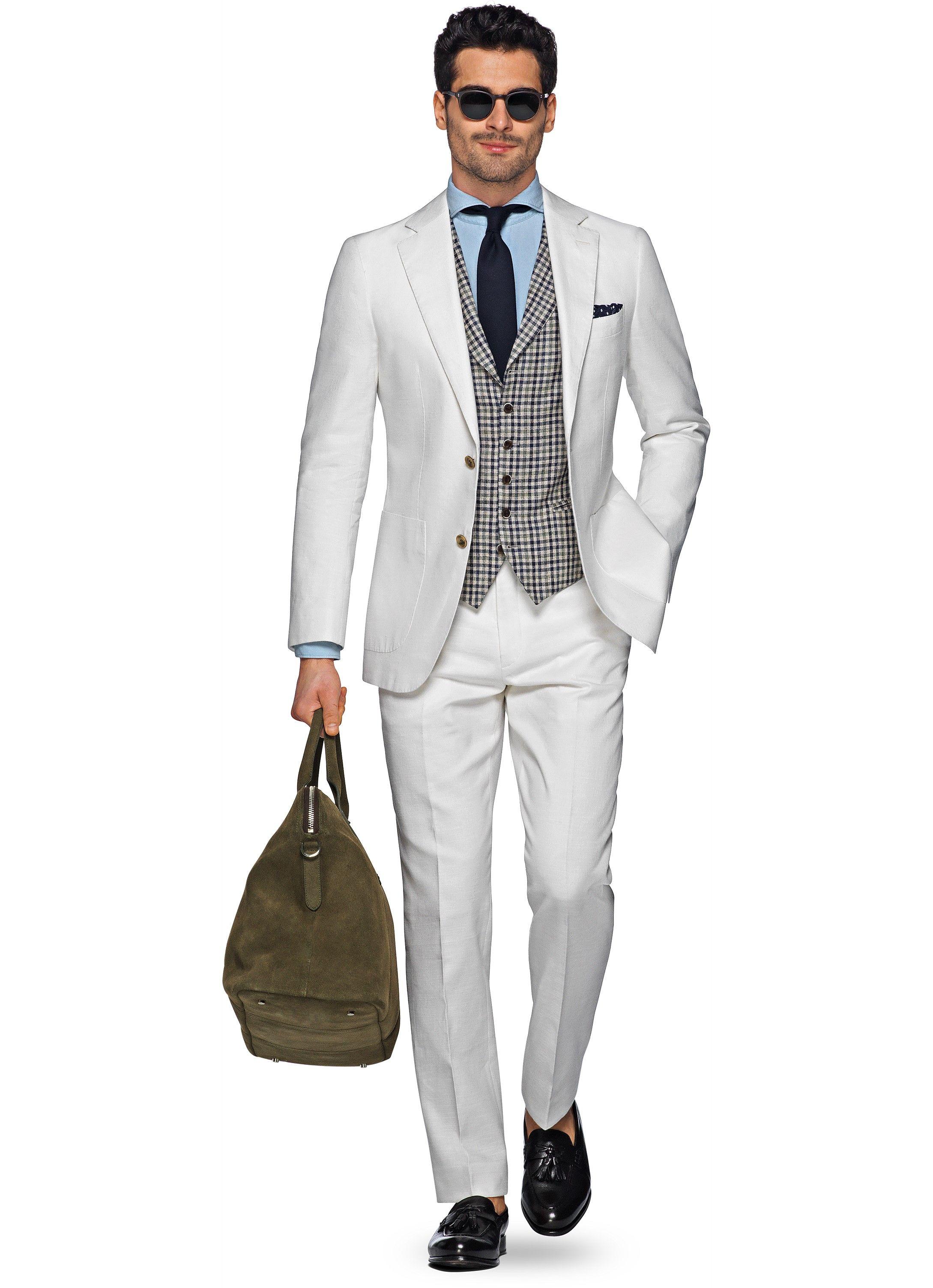Suit Off White Plain Havana P4813i | Suitsupply Online Store | I ...
