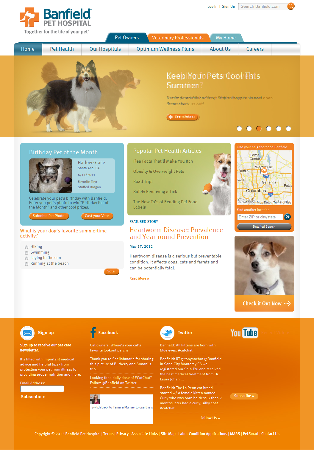 Banfield Pet Hospital The Boxes In The Middle Are Nice Because The Text Heavy Nature Is Broken Up By Color And Visu With Images Pet Health Care Animal Hospital Pet Health