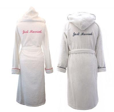 Just Married, Wedding/Honeymoon Dressing Gowns! #personalised #bathrobes #wedding