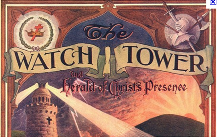 Jehovah Witness (Watchtower) showing Masonic Symbols