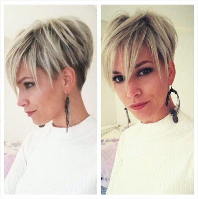 Long Fringe Pixie Cut Frisurer Krótkie Włosy Włosy ładne Włosy