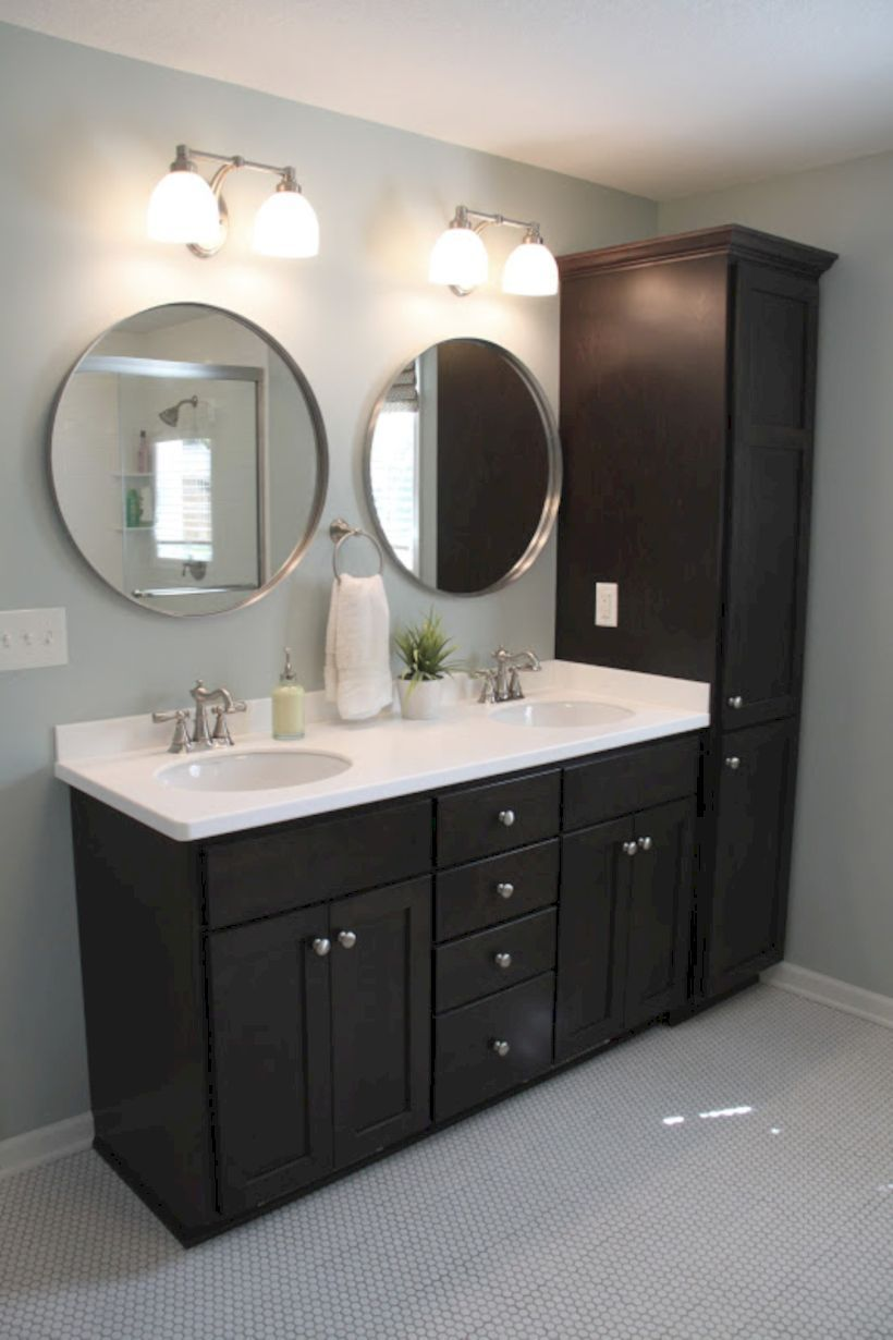 Explore Kitchen Island Ideas On Pinterest See More Ideas About Bathroom Cabinet Black Cabinets Bathroom Bathroom Cabinet Makeover Palladian Blue Bathroom