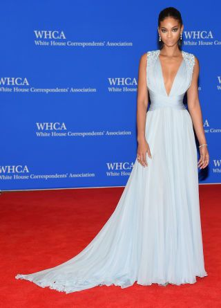 Chanel Iman attends the White House Correspondents Dinner. All the best red  carpet looks here  b1a6899364ba