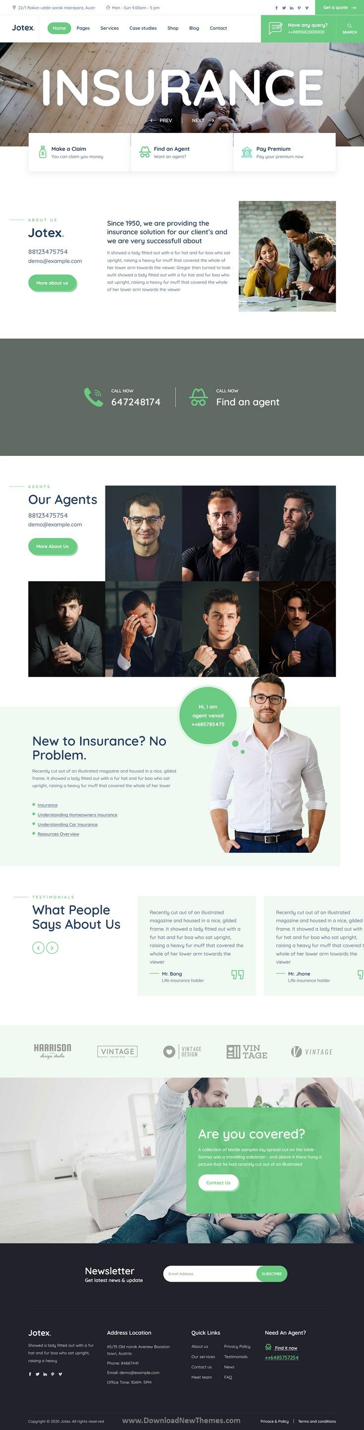 Responsive Insurance Business WordPress Theme in 2020