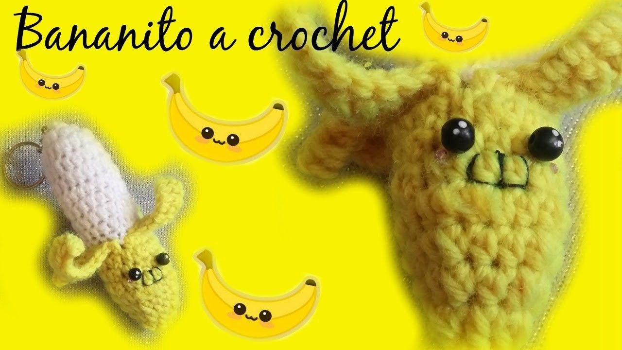 Llavero bananito a crochet AMIGURUMI