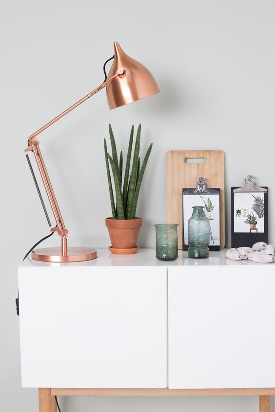 Rose Gold Desk Lamp Mix And Match Wit Hout En Koper  Desk Lamp Desks And Lamp Table