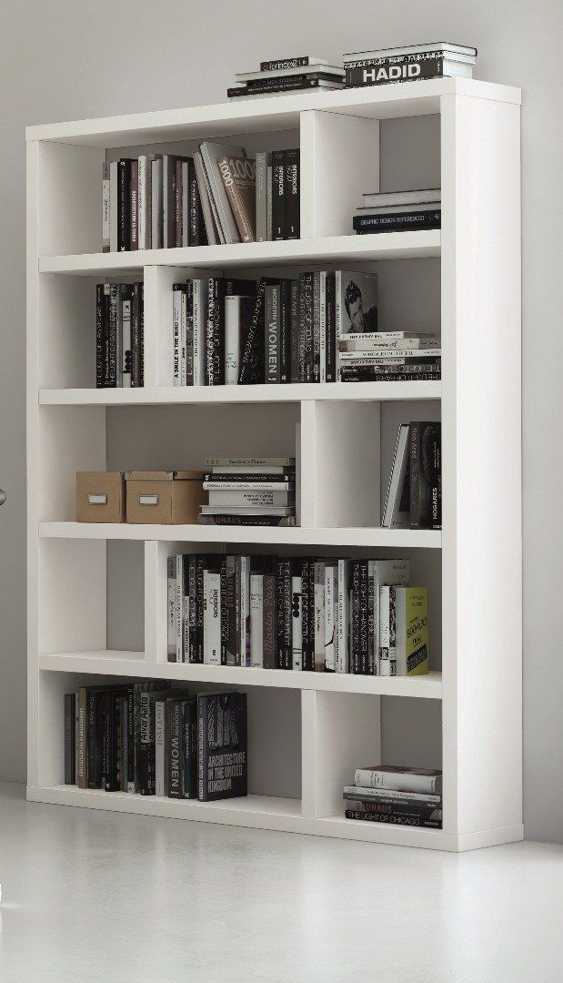 biblioth que tag re dublin 10 casiers blanc mat. Black Bedroom Furniture Sets. Home Design Ideas