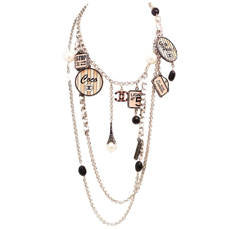 Vintage Chanel �House of Goossens� Multi-Charm Necklace