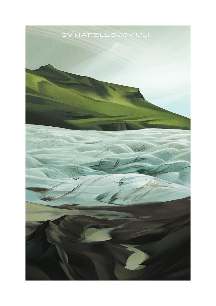 """Svínafellsjökull"" by Claire Hummel, $30.00 by Light Grey Art Lab Shop"