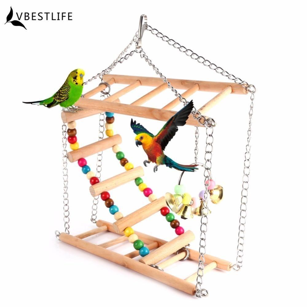 Parrots Toys Bird Swing Exercise Climbing Hanging Ladder