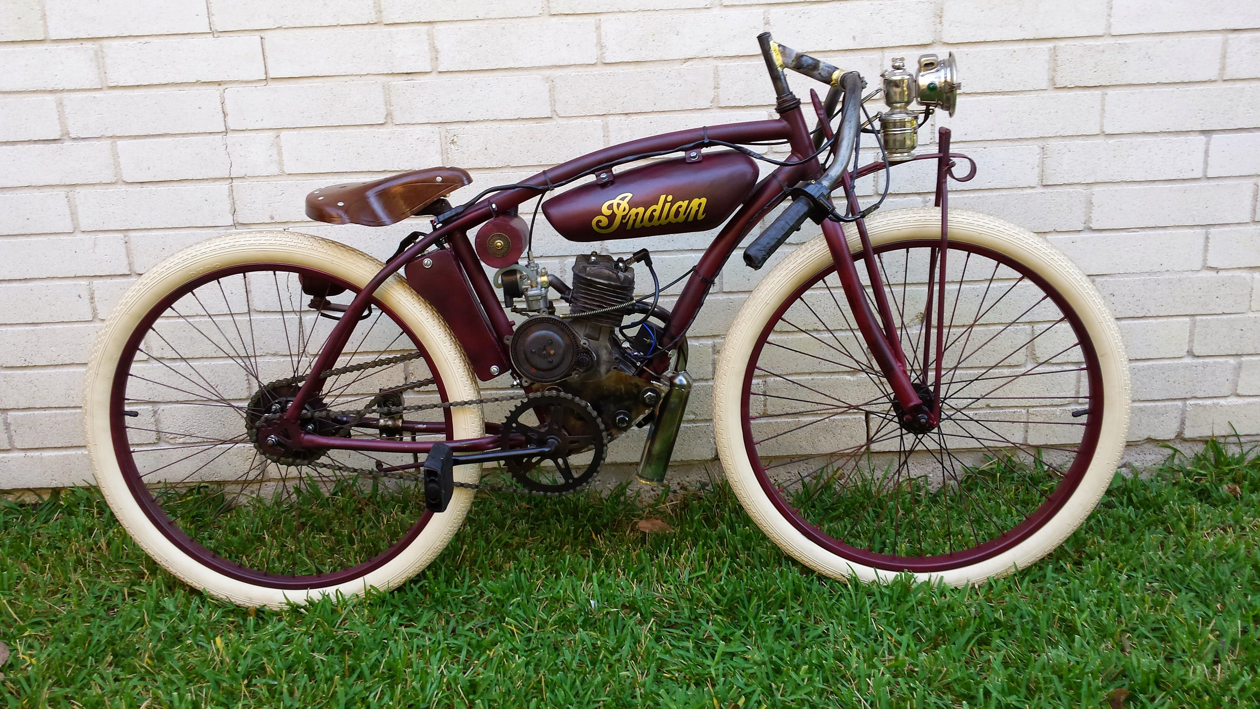 Indian Board Track Replica Houston Spring Texas Motorized Bicycles Sales Service Parts Bicycle Motorized Bicycle Bicycles For Sale