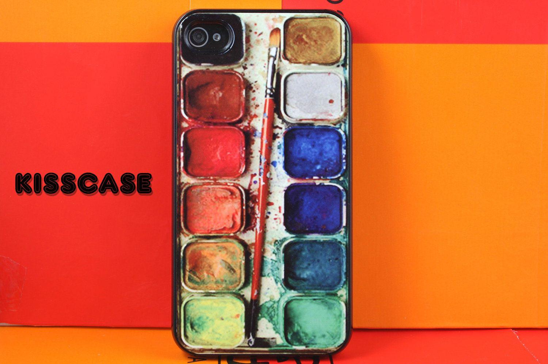 iPhone 4 case iPhone 4s case iPhone 4 cover iPhone 4s skin iPhone 4s cover iPhone 4s skin paintbox paint box. $7.99, via Etsy.