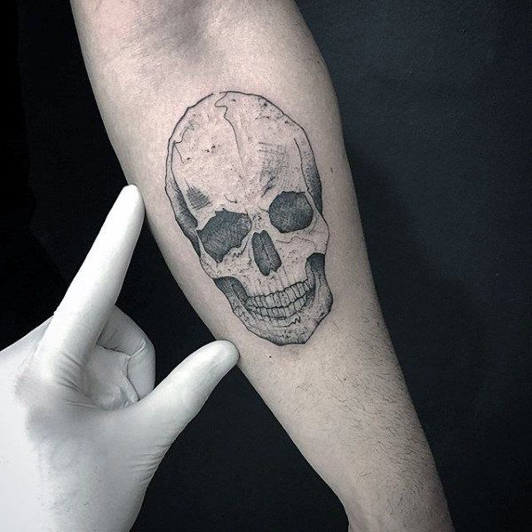 Detailed Inner Forearm Skull Small Tattoo Designs For Guys Small Tattoos Tattoos For Guys Small Tattoo Designs