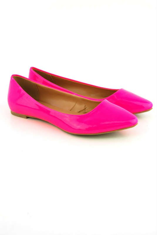 Neon Green Flat Shoes