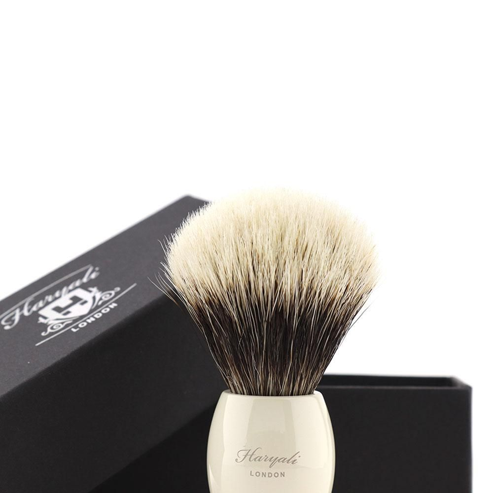 Haryali Ivory color with nickel plating shaving brush Gallery
