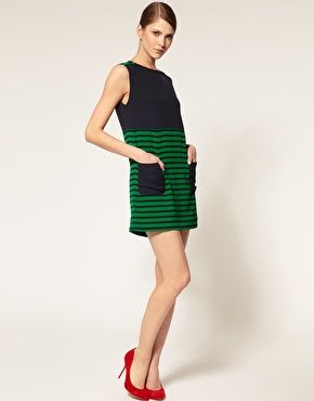 Camilla and Marc Shift Dress with Stripe