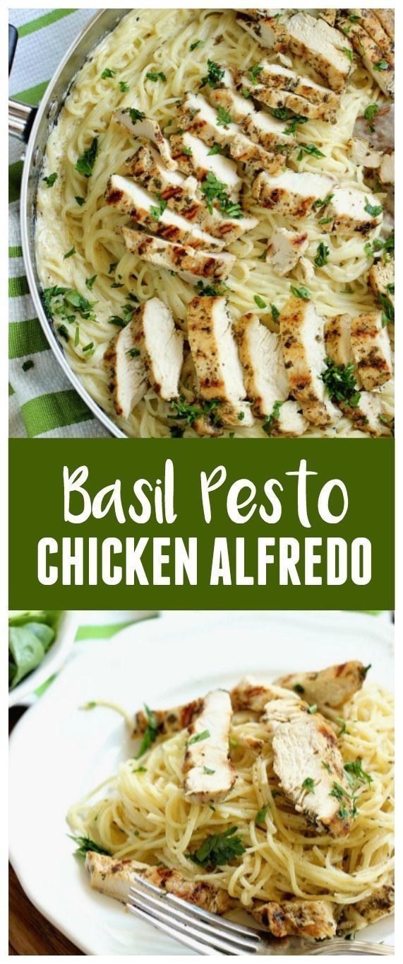 Basil Pesto Chicken Alfredo Basil Pesto Chicken Alfredo        Basil Pesto Chicken Alfredo - An easy, delicious, and quick 30 minute chicken dinner recipe!
