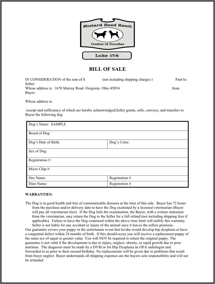 Ohio Animal Bill Of Sale Form Download The Free Printable Basic Bill Of Sale Blank Form Template Or Waiver In Microsof Bills Bill Of Sale Template Legal Forms