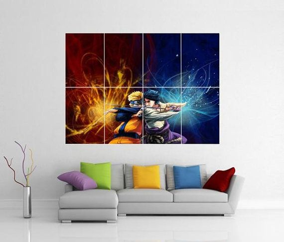 Pin By Allninjagear Com On Naruto Giant Wall Art Anime Decor Wall Art Pictures