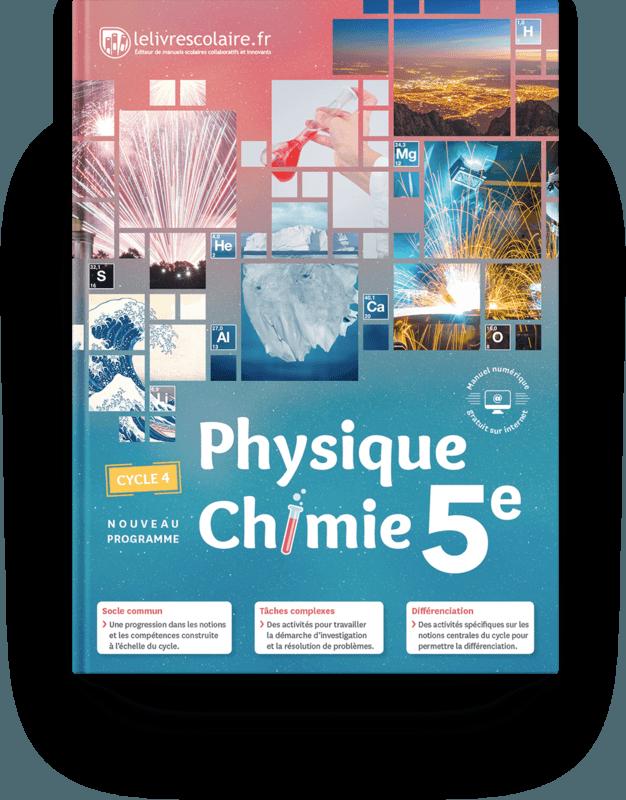 Couverture Livre Physique Chimie 5e Physique Chimie College Manuel Scolaire Physique Chimie