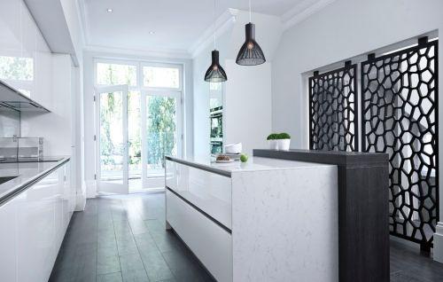 Idées pour cuisine blanc et noir design \u2013 le classique et le moderne