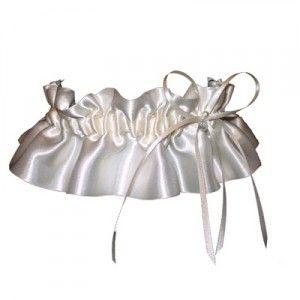 satin wedding garter with bow pearl bead www ayedo co uk