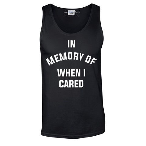 In Memory Of When I Cared Vest